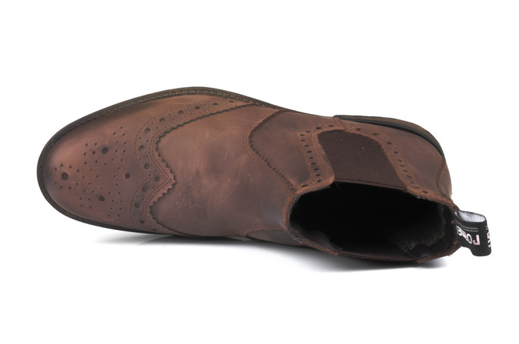 Kožená kotníková pánská obuv vojenská – hnědá - Solier fc6e0e3a45