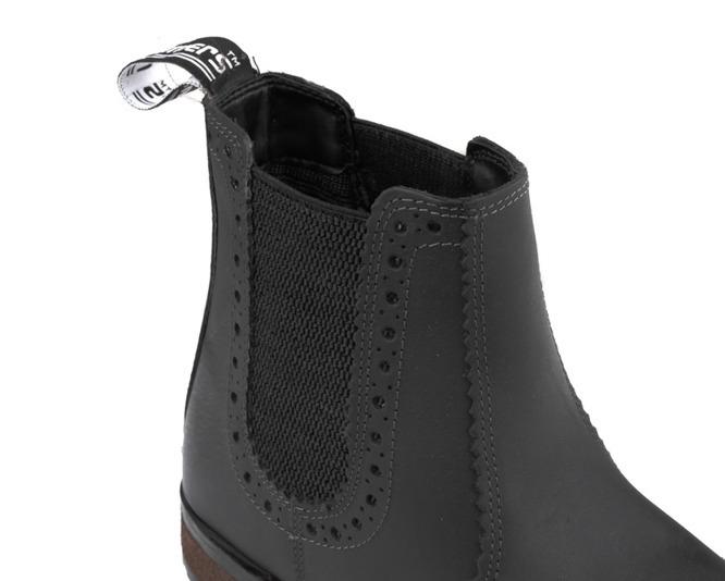 Kožená kotníková pánská obuv vojenská – černá - Solier 9f9ed1225b