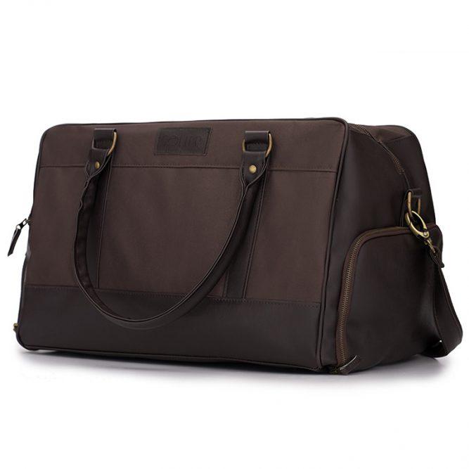 Solier pánská víkendová taška S18 hnědá II