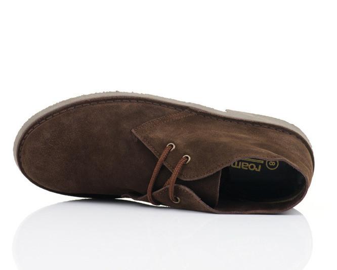 Klasické kožené tmavě hnědé pánské boty CHUKKA Desert Boots