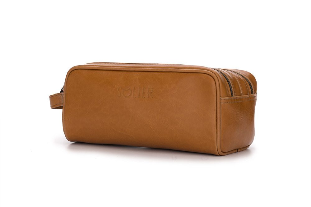 Pánská kožená univerzálni taška Solier SK02 - CAMEL