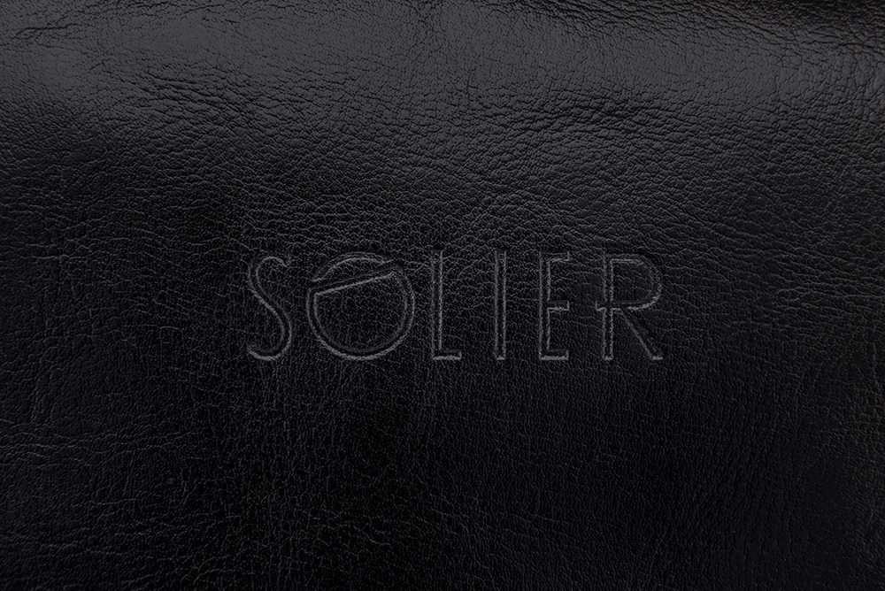 Solier pánská kožená kosmetická taška SK01 - BLACK