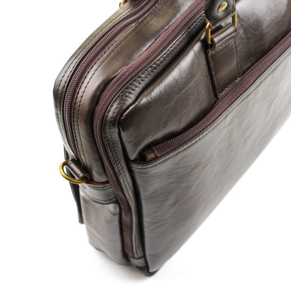 Solier pánská kožená taška SL01 brown (hnědá)