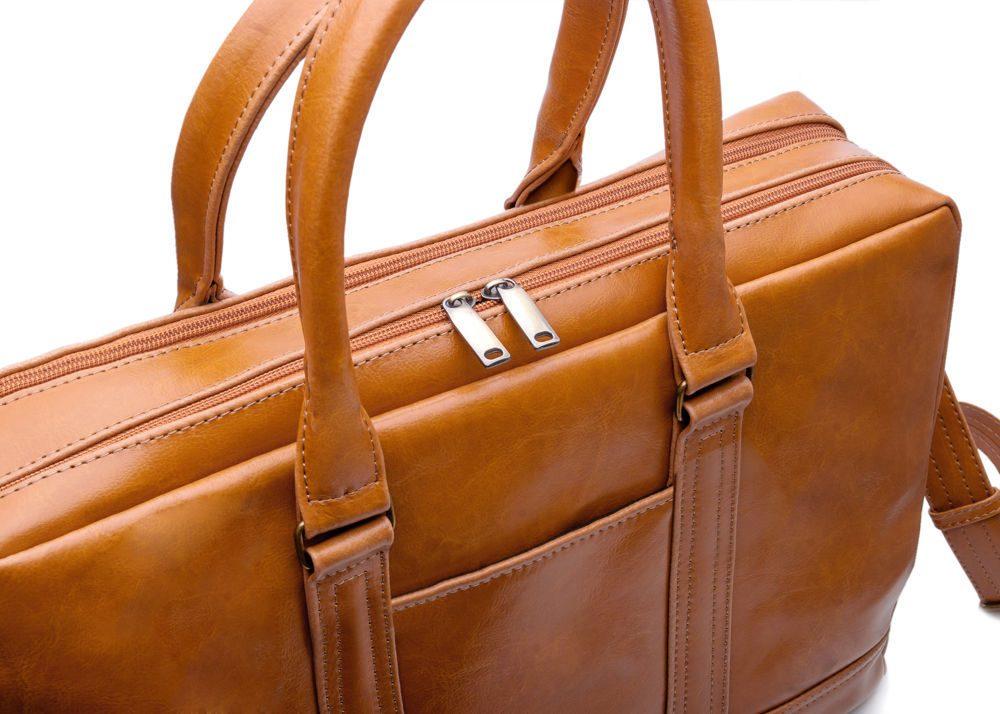Solier pánská kožená taška SL02 camel (světle hnědá)
