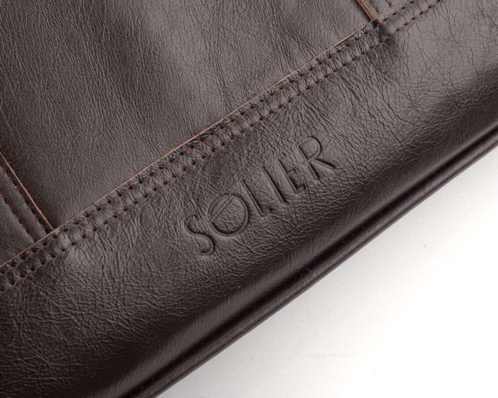 Solier pánská kožená taška SL02 brown (hnědá)