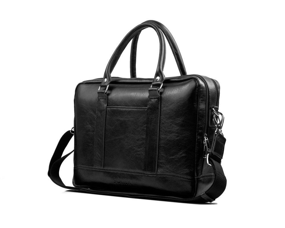 Solier pánská kožená taška SL02 black (černá)