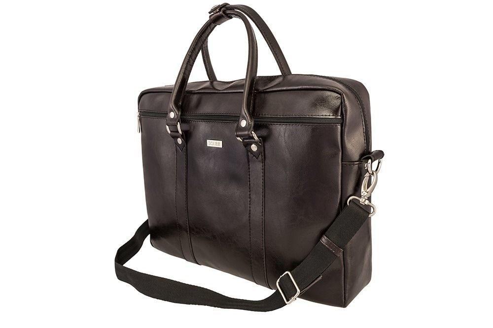 Solier pánská kožená taška SL03 brown (hnědá)