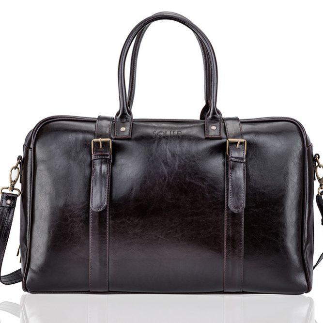 Solier pánská taška SL16 hnědá