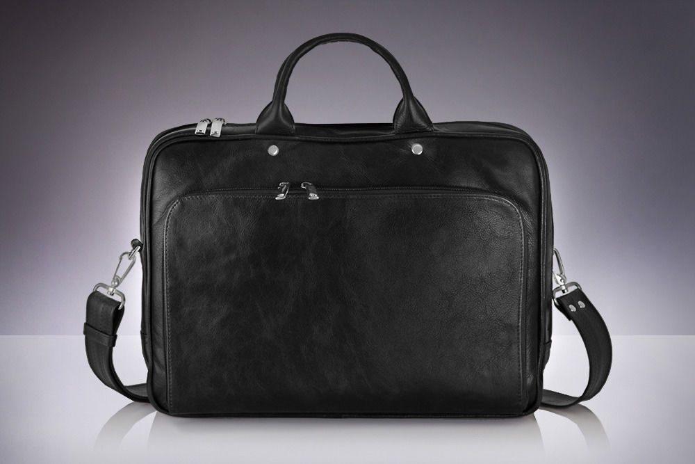 Solier pánská kožená taška SL30 black (černá)