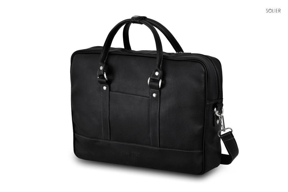 Solier pánská taška přes rameno S04 black (černá 1)