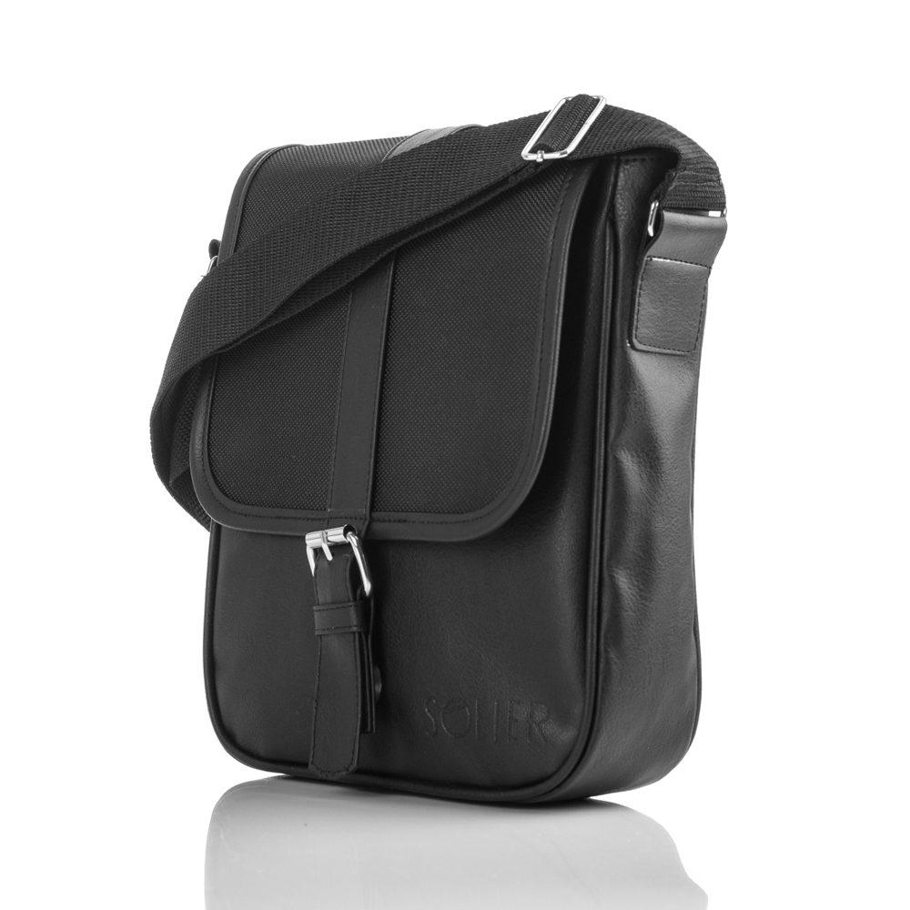 Solier pánská taška přes rameno S08 black (černá)
