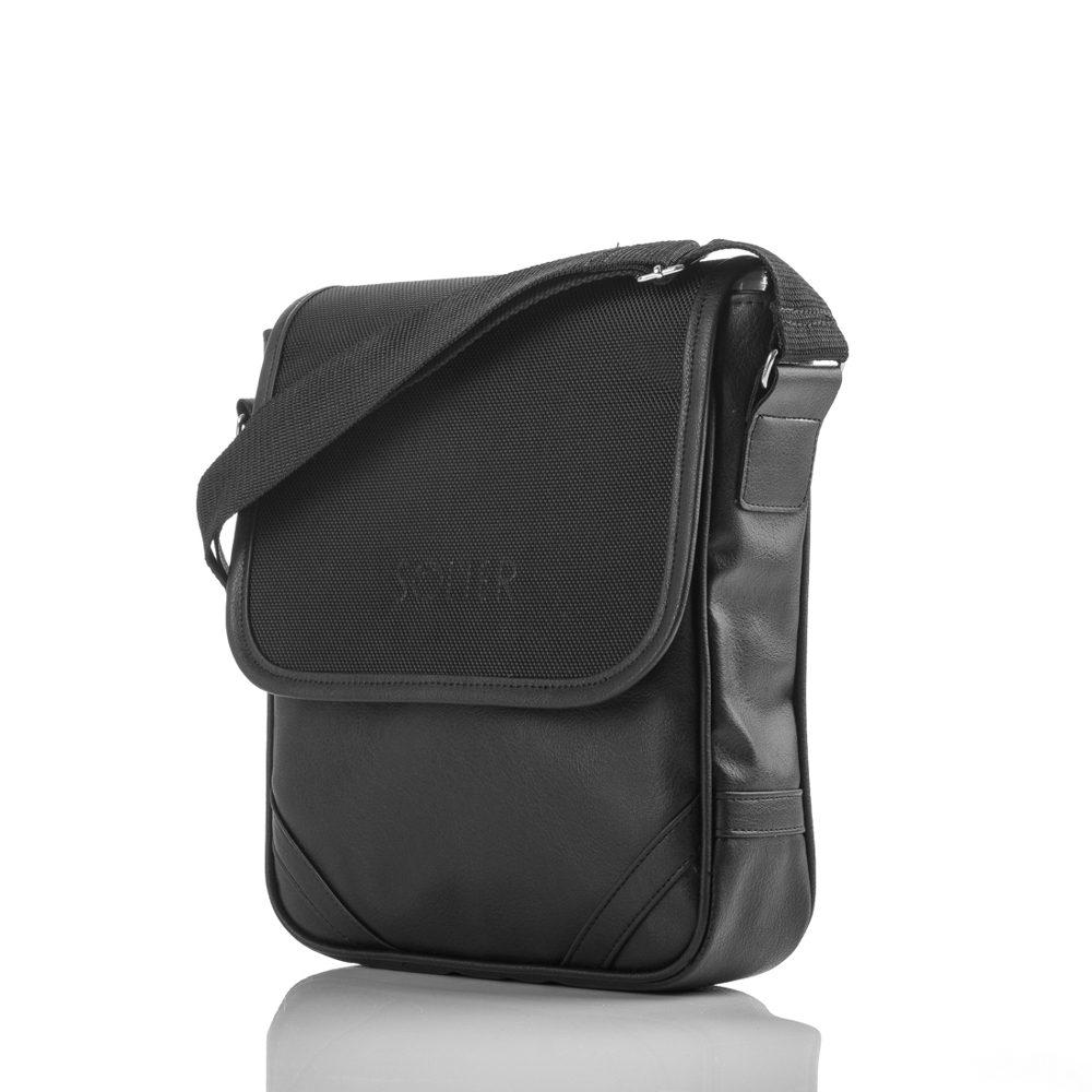 Solier pánská taška přes rameno S07 black (černá)