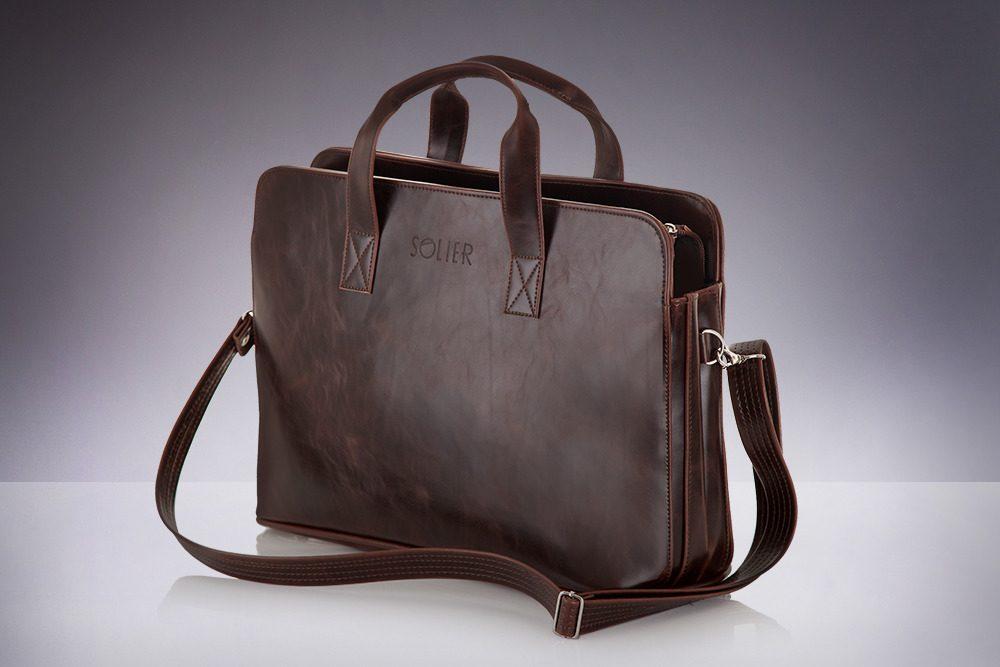 Solier pánská taška přes rameno S05 brown (hnědá)