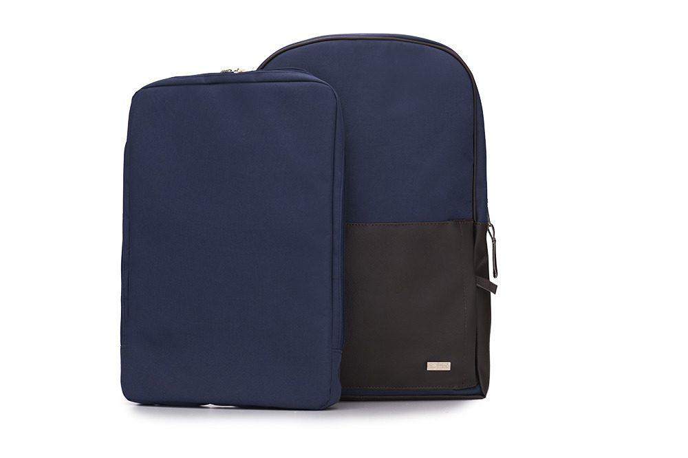 Solier batoh SR01 modro-hnědý (navy-brown)