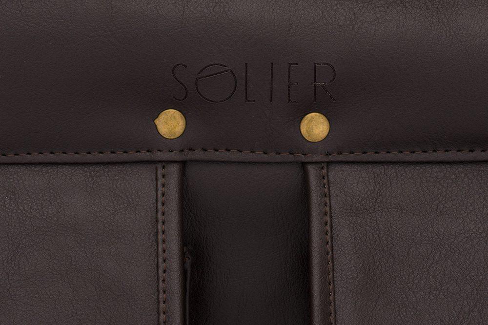 Solier pánská aktovka S24 dark brown (tmavě hnědá)