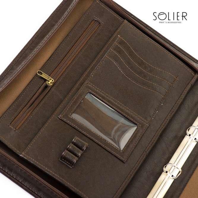 Solier složka na dokumenty ST01 hnědá