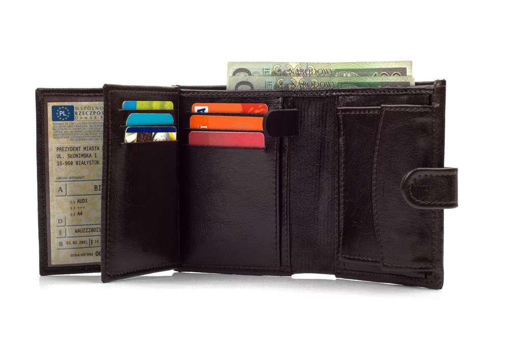 Elegantní kožená pánská peněženka značky SOLIER SW01 BROWN