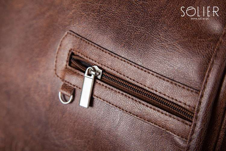Solier taška na notebook S12 vintage brown (světle hnědá)