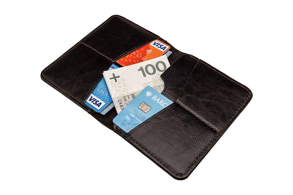 Elegantní kožená pánská peněženka značky SOLIER SW10 SLIM - DARK BROWN