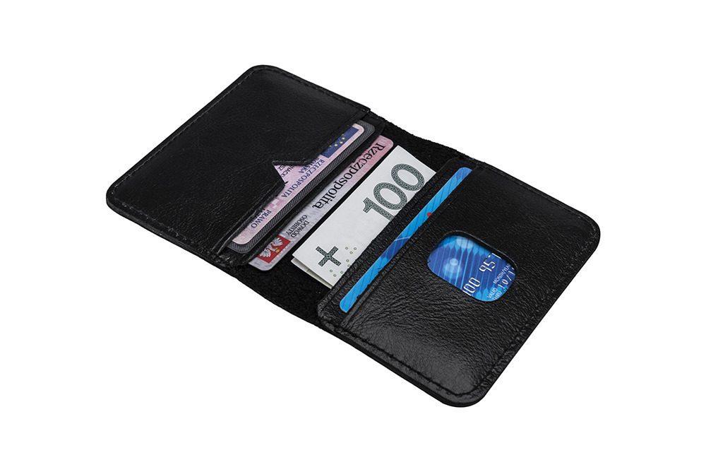 Elegantní kožení pánská peněženka značky SOLIER SW11 - BLACK