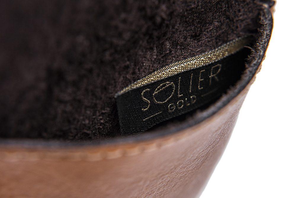 Elegantní kožená pánská peněženka značky SOLIER SA10 - CAMEL