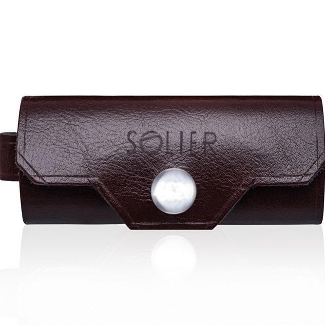 Elegantní kožené pouzdro na klíče SA11 - MAROON