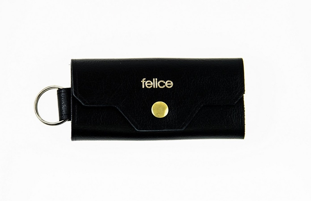 FELICE kožený obal na klíče FA11 - BLACK