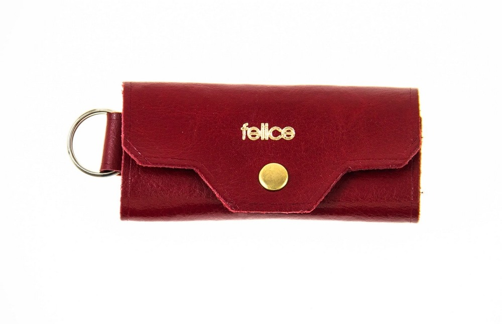 FELICE kožené obaly na klíče FA11 - RED