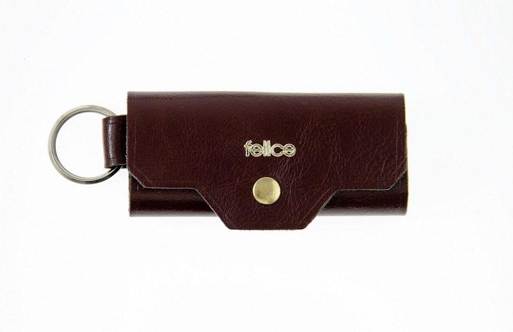 FELICE kožené obaly na klíče FA11 - BROWN MAROON
