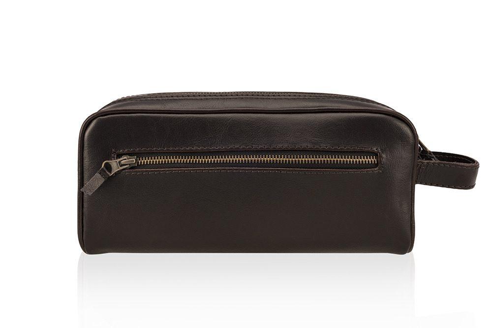 Pánská kožená univerzálni taška Solier SK02 - DARK BROWN
