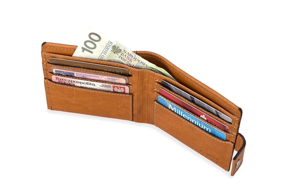 Elegantní kožená pánská peněženka značky SOLIER SW05 - CAMEL