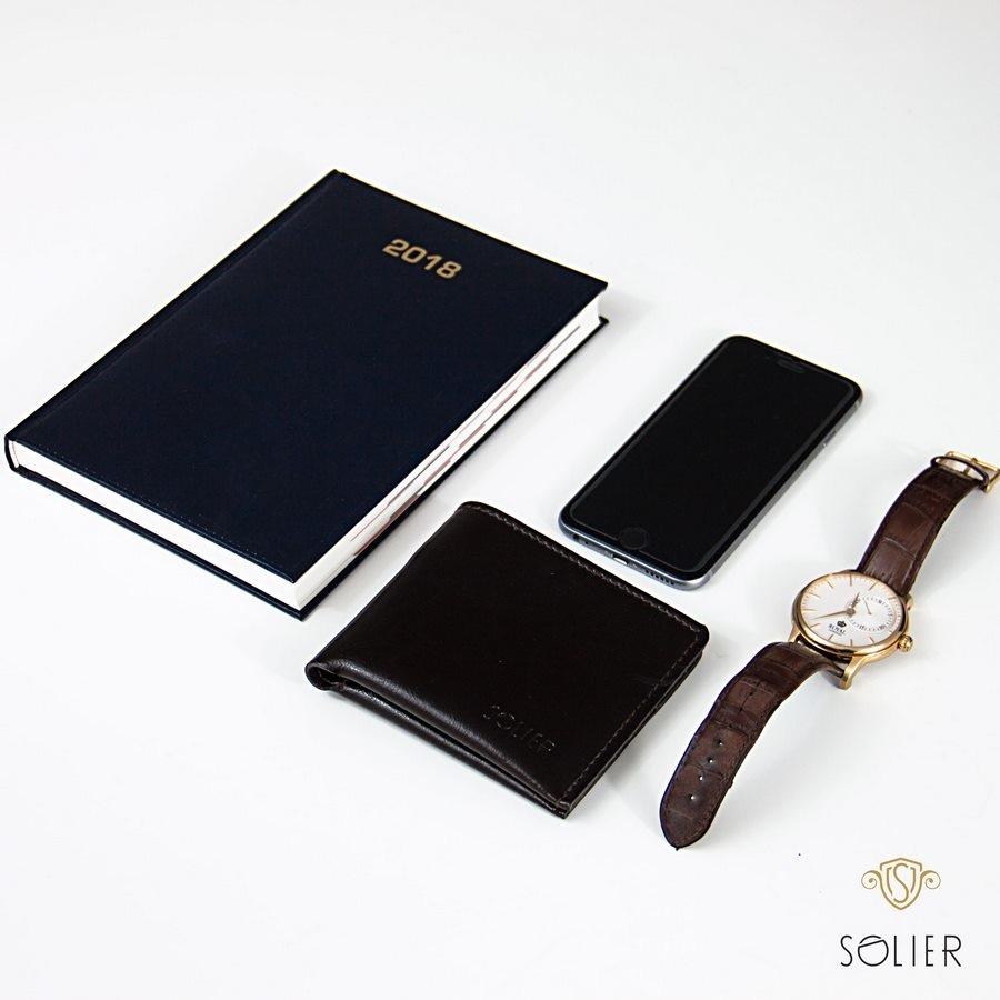 Elegantní kožená pánská peněženka značky SOLIER SW05 - BLACK