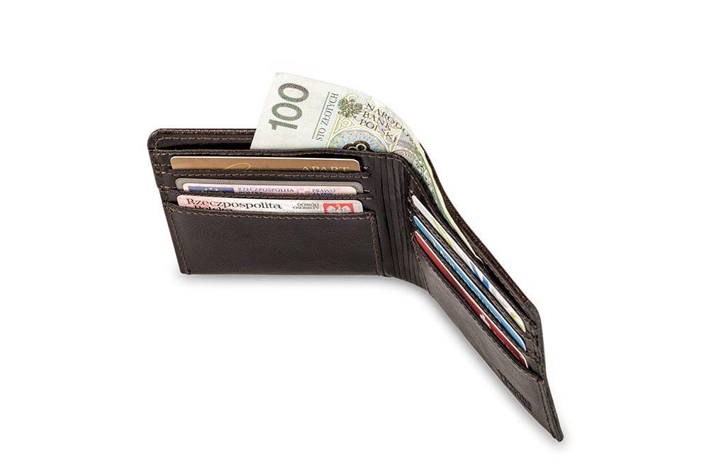 Elegantní kožená pánská peněženka značky SOLIER SW05B - BROWN