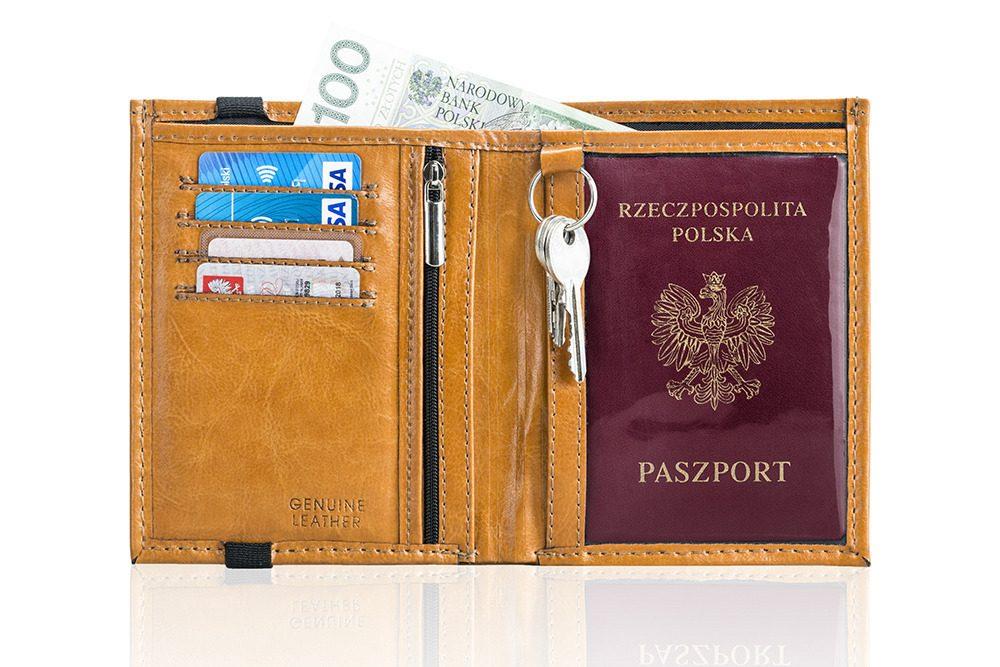 Elegantní kožená pánská peněženka značky SOLIER SW07 - CAMEL