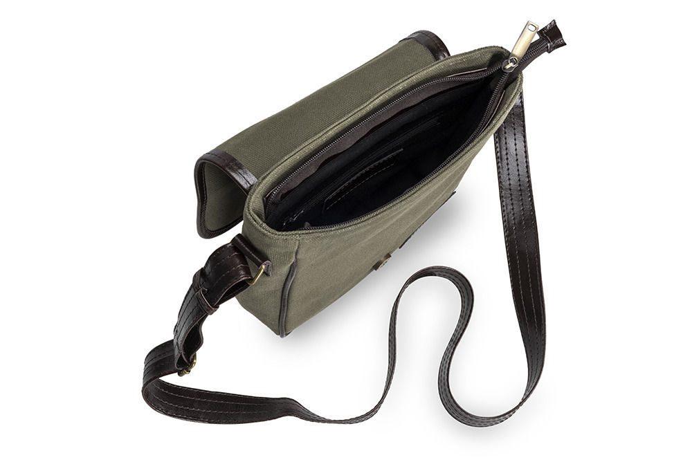Solier pánská kožená taška SL08 HIKE green (zelená)