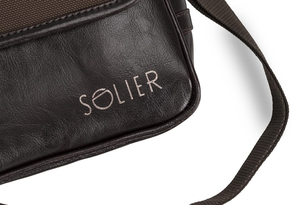 Solier pánská kožená taška přes rameno SL07 brown (hnědá)