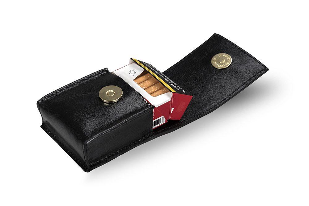 Pánské kožené pouzdro na cigarety Solier SA14 - DARK BROWN