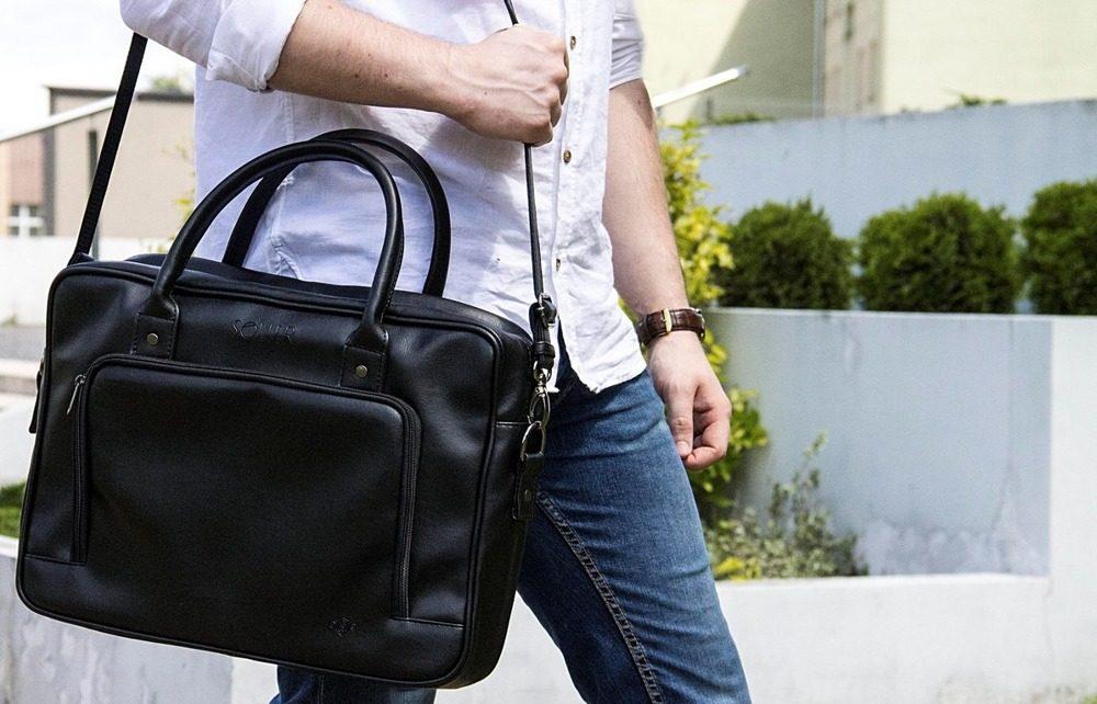 Solier taška na notebook S19 brown (hnědá)