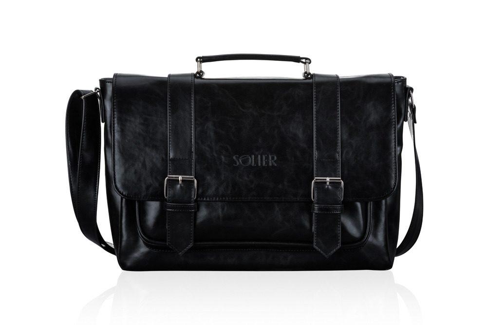 Solier taška na notebook S25 black (černá)