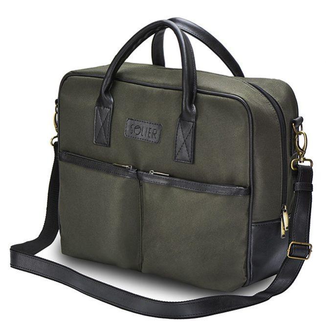Solier taška na notebook S23 khaki green (zelená)