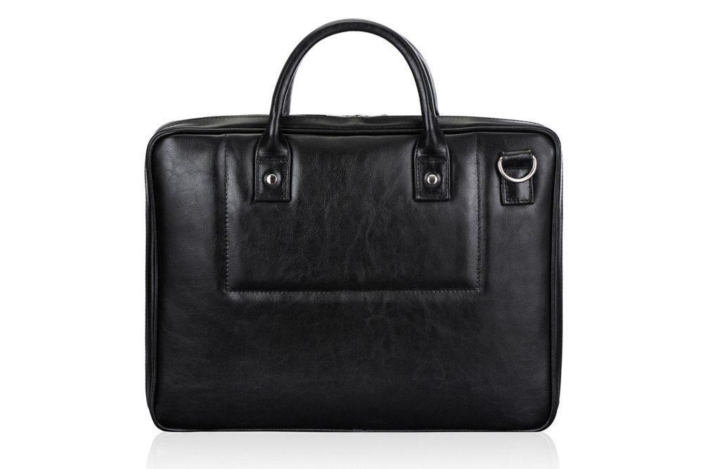 Solier kožená taška na notebook SL21 black (černá)