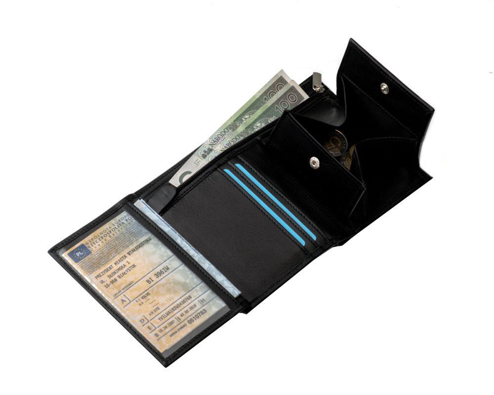 Elegantní kožená pánská peněženka značky SOLIER SW08 - BLACK