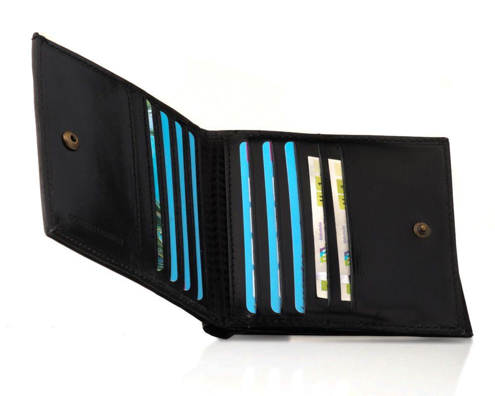 Elegantní kožená pánská peněženka značky SOLIER SW12B - BLACK