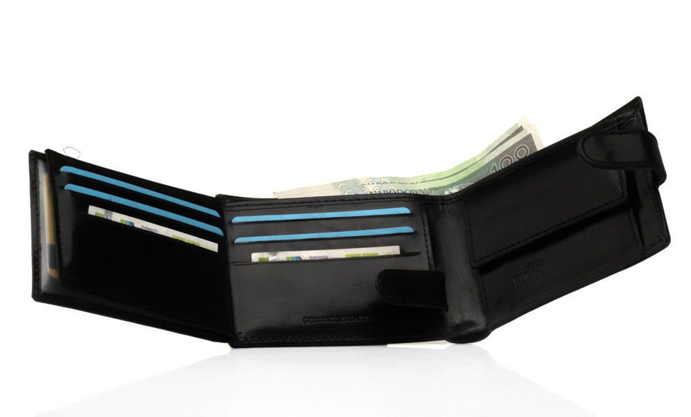 Elegantní kožená pánská peněženka značky SOLIER SW12 - CLASP BLACK