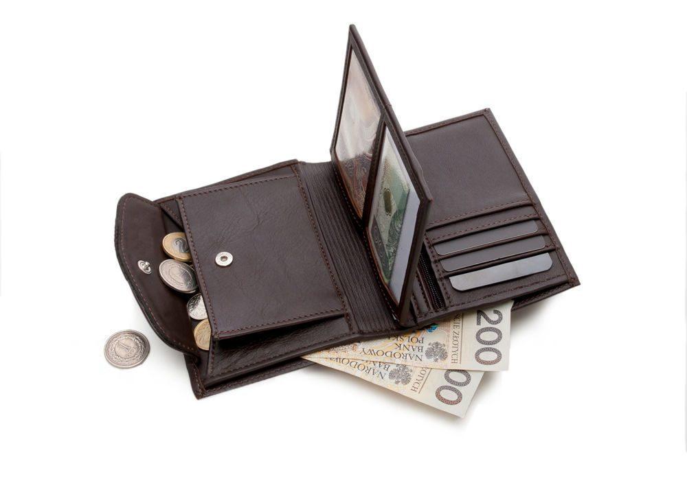 Elegantní kožená pánská peněženka značky SOLIER SW09 - BROWN
