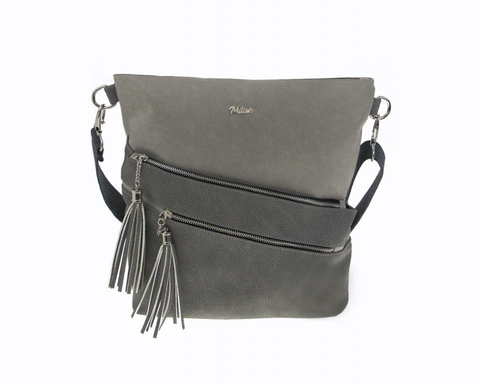 DÁMSKÁ CROSSBODY KABELKA MILTON ML21 - LIGHT GREY