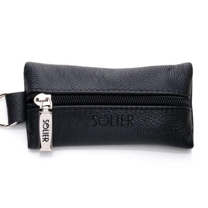 Kožené pouzdro na klíče SA18 - BLACK
