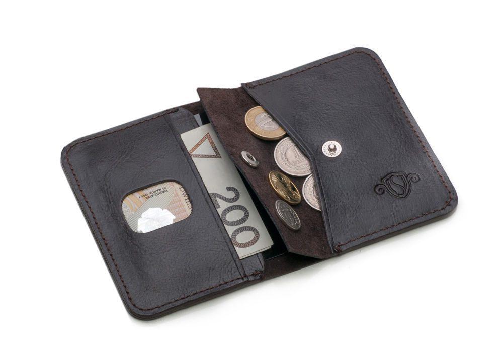 Elegantní kožená pánská peněženka značky SOLIER SW16 - DARK BROWN