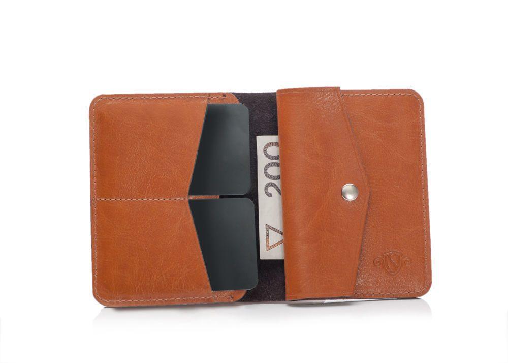 Elegantní kožená pánská peněženka značky SOLIER SW15 - LIGHT BROWN