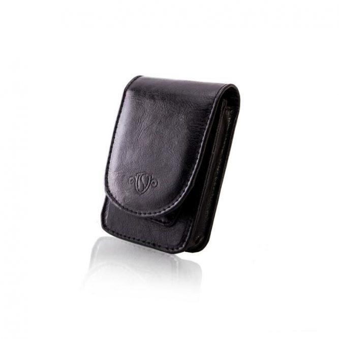 Pánské kožené pouzdro na cigarety Solier SA19 - BLACK